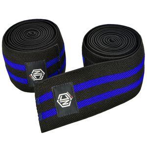 faixa-elastico-de-joelho-azul-enrolada