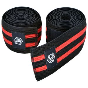 faixa-elastico-de-joelho-vermelha-enrolada